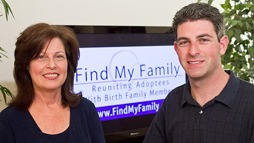 Adoption Search Angel Judy Sheinbein and Find My Family Founder Aaron Sheinbein