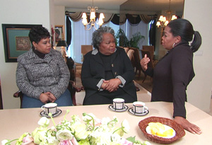 Oprah Winfrey and half-sister Patricia Lloyd, visit with biological mother Vernita Lee