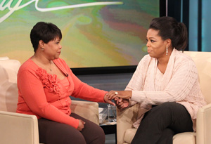 Patricia Lloyd joins her biological sister, Oprah Winfrey on The Oprah Show